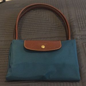 NEW Longchamp Large tote teal green